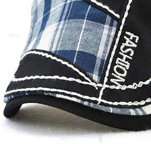 野球帽 キャスケット メンズ ハット ゴルフ 綿 調整可能 防風 日よけ ファッション ハンチング LWQJP (Color : ブラック, Size : One Size)