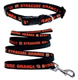 Pets First Syracuse Orange Nylon Collar Matching Leash Pets (NCAA Official Size Small