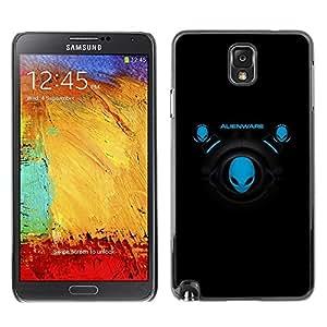 Be Good Phone Accessory // Dura Cáscara cubierta Protectora Caso Carcasa Funda de Protección para Samsung Note 3 N9000 N9002 N9005 // Blue Aliens