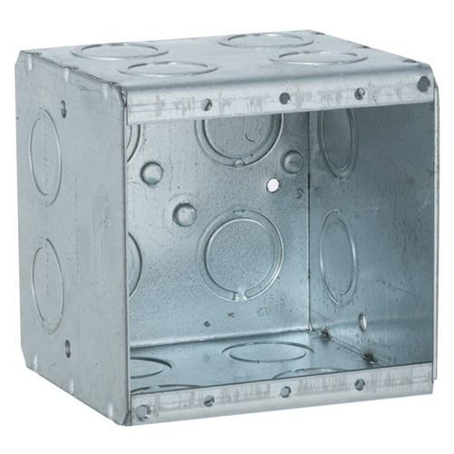 Raco 696 Steel 2-Gang Non-Gangable Masonry Box 3-25/32 Inch x 3-3/4 Inch x 3-1/2 Inch
