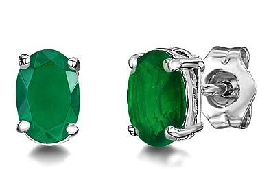 78d197140 Emerald Earrings Studs for Women, Emerald Silver Stud Earrings, Gemstone  Stud Earrings, Green