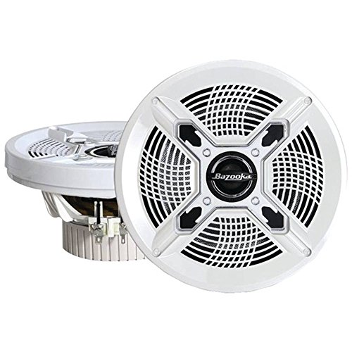 Bazooka Mac6510w Marine Coaxial Speakers (6.5; White)