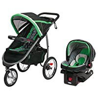 Graco Fastaction Fold Jogger Click Connect Travel System, Fern