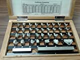 36 PCS inch GAGE BLOCK SET NIST Equivalent certificate,GRADE AS-0,#702-36-AS0