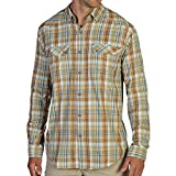 ExOfficio Men's Minimo Plaid Long Sleeve Shirt, Twig, Large