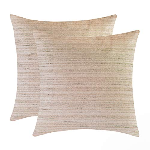 (The White Petals Taupe Euro Sham Covers - Luxurious, Elegant & Decorative (26x26 inch, Pack of 2) )