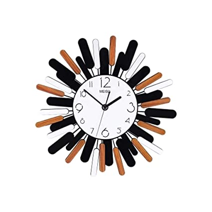 Wall Clock Xiangyanghua Simple Decorative Quartz Wall Clock (Color : Sun Flower, Size :