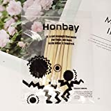 Honbay 10-Piece Double Ended Wooden Mini Modeling
