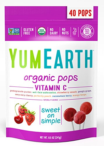 YumEarth Organic Vitamin C Lollipops, 8.5 Ounce Bag ( Packaging May Vary (Lollipop Gift)