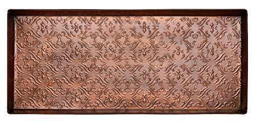 home-furnishings-by-larry-traverso-jacquard-pattern-metal-boot-tray-30-inches-by-13-inches-antique-c