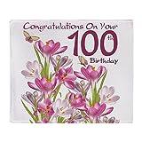 CafePress - 100Th Birthday Pink Crocus - Soft Fleece Throw Blanket, 50''x60'' Stadium Blanket