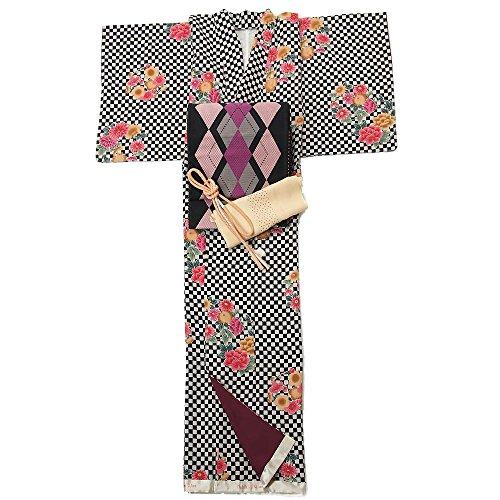 有能な仮定、想定。推測注入する着物セット 仕立て上がり 正絹小紋 着物+名古屋帯+帯締+帯揚 4点セット 着物デビュー