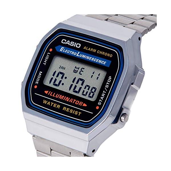 Casio Collection A168WA-1YES, Reloj Rectangular, Unisex, Plateado 51cHhLQlDSL
