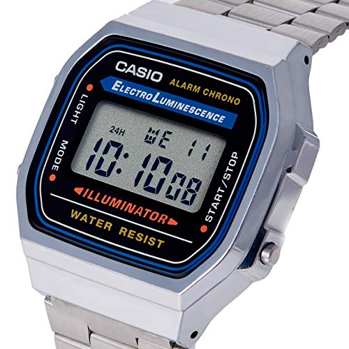 Casio Men's Vintage A168WA-1 Electro Luminescence Watch (Watch With Digital)