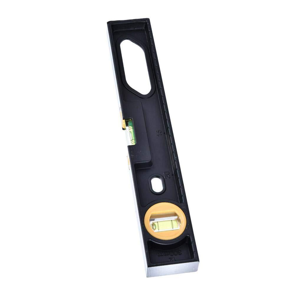 30cm Magnetic R/ègle de Niveau /à Bulle en Alliage dAluminium /Épais 2 Outil de Mesure pour Horizontal Vertical avec Magn/étique