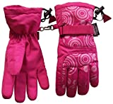 N'Ice Caps Kids Scroll Print Thinsulate and Waterproof Snowboarder Glove (8-12yrs, fuchsia/white)