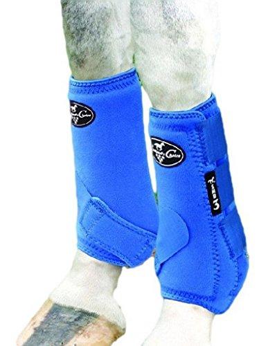 Professionals Choice Equine Neoprene Sports Medicine Leg Boot, Pair (Medium, Royal Blue) (Medicine Choice Sports)