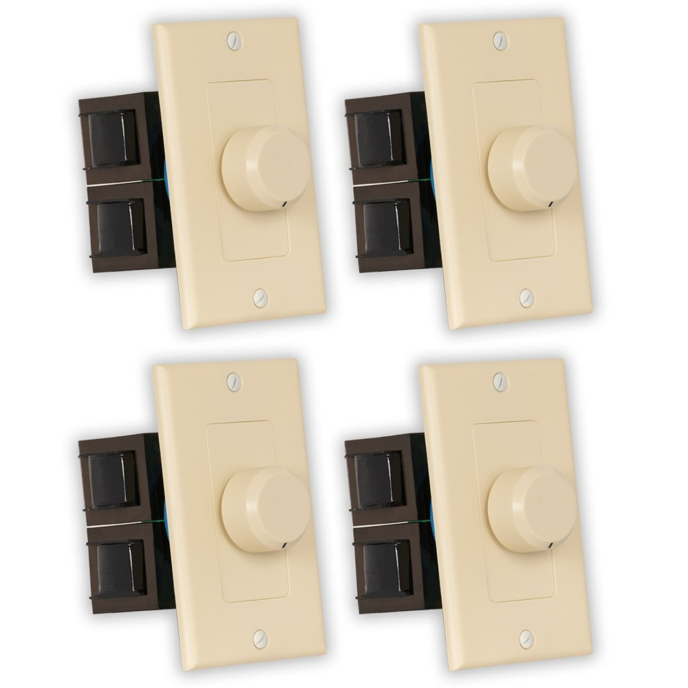Theater Solutions TSVCD-I Indoor Speaker Volume Controls Ivory Dial Audio Switches 4 Piece Pack by Theater Solutions