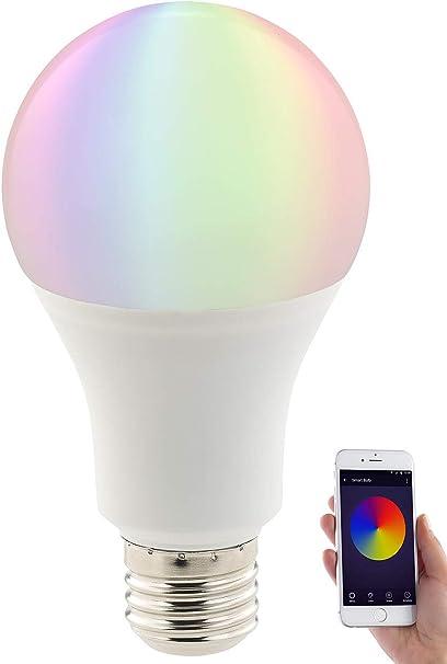 Luminea Home Control Leuchtmittel Wlan Wlan Led Lampe Komp Mit Amazon Alexa Google Assistant E27 Rgbw Wlan Glühbirne Alexa Beleuchtung