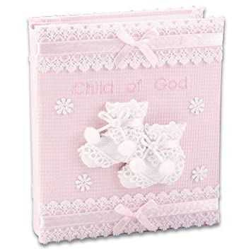Amazoncom Child Of God Baby Girl Fabric Photo Album Baby