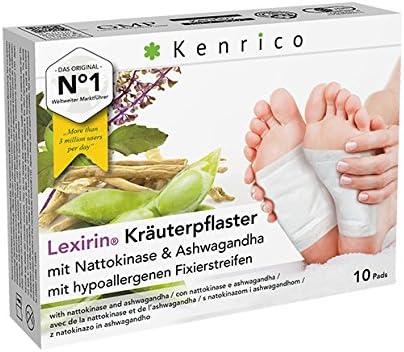 Original KENRICO® Lexirin Kräuterpflaster mit Nattokinase und Ashwagandha| Kein Nachbauprodukt aus China | Zugelassenes...