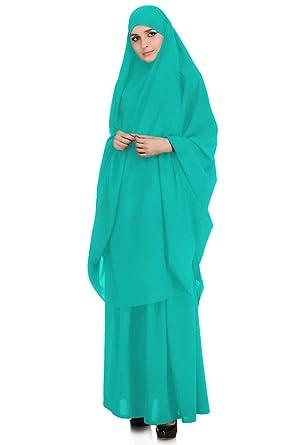 c2223c495 MyBatua 2 Piece Jilbab/Khimar & Skirt Set in Breathable Soft Nida Fabric,  Free