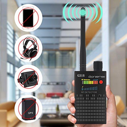 "Super Anti-spy Bug GPS Camera RF Signal Detector Set [Advanced Version], Dooreemee GPS Tracker Wireless Camera Amplification Ultra-high Sensitivity GSM Device Finder(2"" X 0.8"" X 3.3"", 4.1oz, (Frequency Finder Bug)"