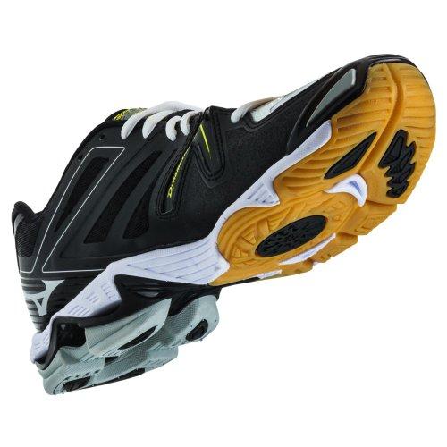 Mizuno Men's Wave Lightning RX3 Volleyball Shoes - White & Black (White/Black, 8)