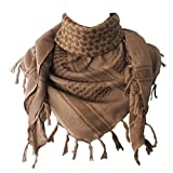 Explore Land Cotton Shemagh Tactical Desert Scarf Wrap (Sand)