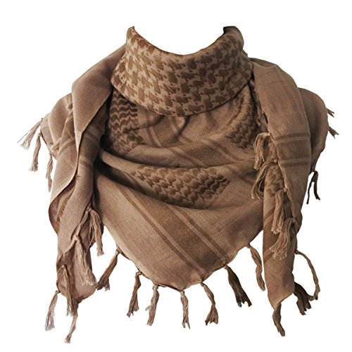 Explore Land 100  Cotton Military Shemagh Tactical Desert Keffiyeh Scarf Wrap  Sand