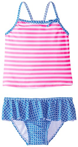 carter's Little Girls' Striped Two Piece Tankini, Stripe, 5