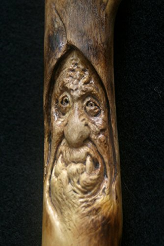 Woodcarving Wood Spirit Orc Troll Goblin Labyrinth Inspired Tree Face Spirit of the Woods Odd Weird Pagan Wiccan Sculpture OOAK Unique Gift Wall art
