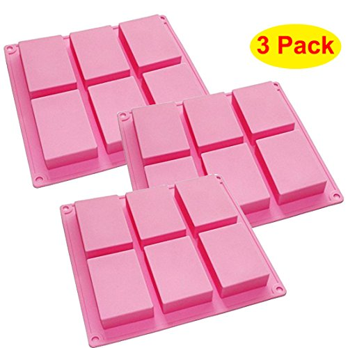 Plain Basic Rectangle Silicone Mold for Soap Making