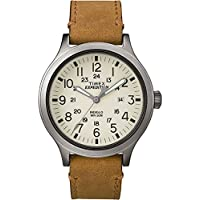 Timex Expedition Scout 43 Watch - Natural Dial/Tan Leather