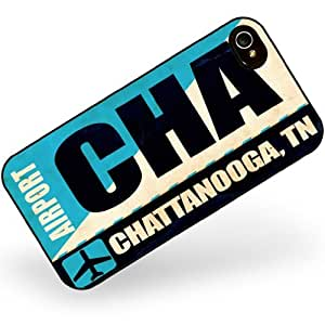 Rubber Case for iphone 4 4s Airportcode CHA Chattanooga, TN - Neonblond