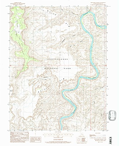 Monument Basin - Monument Basin UT topo map, 1:24000 scale, 7.5 X 7.5 Minute, Historical, 1988, updated 1988, 26.7 x 21.9 IN - Tyvek