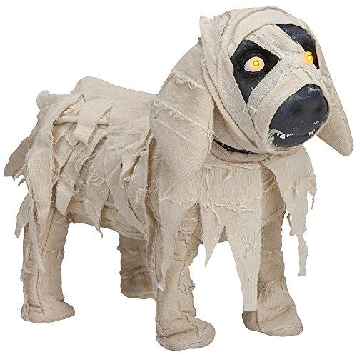 Animated Halloween Mummy Puppy with Light Up -