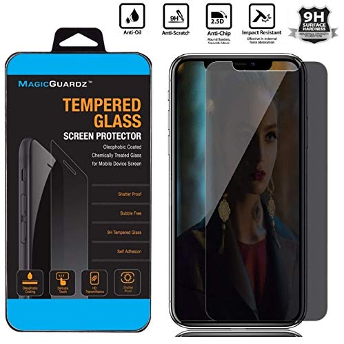 Glass Tinted Tempered (MagicGuardz, Made for Apple iPhone Xs MAX, Privacy Anti-Spy Tinted Tempered Glass Screen Protector Shield, Retail Box)