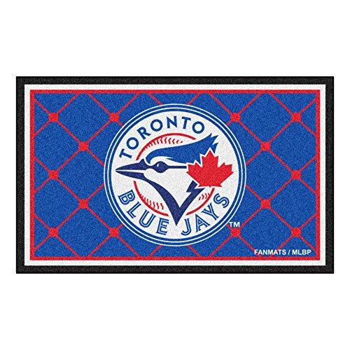 FANMATS MLB Toronto Blue Jays Nylon Face 4X6 Plush Rug