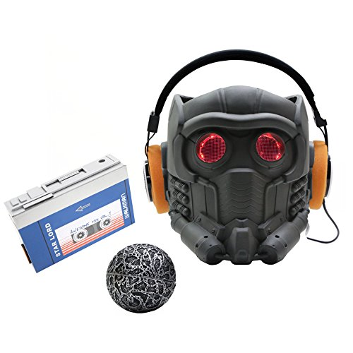 [XCOSER MEN'S V6 Lord Mask Helmet Headphone ORB Full Set 2016 Adult DIY] (2016 Womens Halloween Costumes Diy)