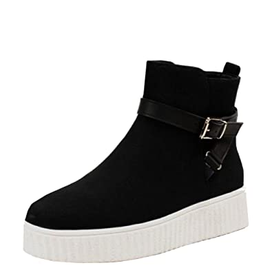 bf3d23a279565 SHU CRAZY Womens Ladies Faux Suede Slip On Zip Up Flat Skater Platform High  Top Trainer