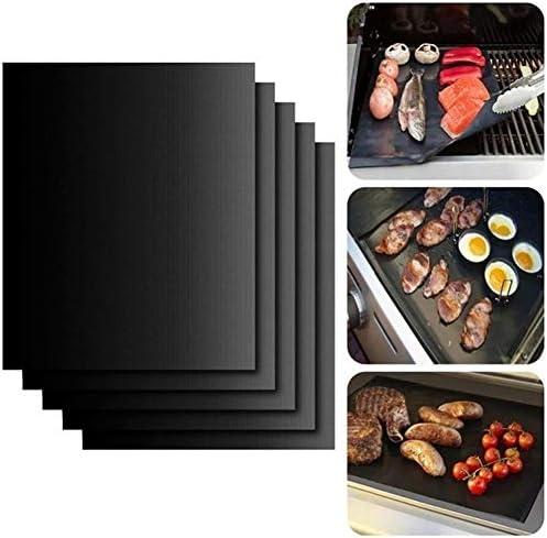 2 Stücke Nicht-stick BBQ Grill Matte Backen Matte Teflon Kochen Grillen Blatt Wärme Widerstand Leicht Gereinigt Küche Werkzeuge Heat-resistant (Farbe : Schwarzes)