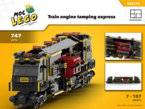 Train Engine Tamping Express (Instruction Only): MOC LEGO por Bryan Paquette