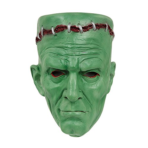 Adults Green Frankenstein Halloween Fancy Dress Mask -