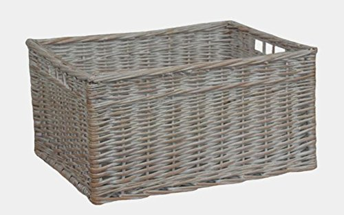 White Wash Open Storage Basket Extra Large by Red Hamper