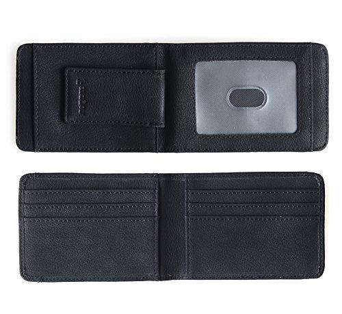 Magnetic Money Clip Card (Paragon Money Clip Credit Card Holder Front Pocket Wallet RFID Blocking Strong Magnet Slim Minimalist Wallet (Black))