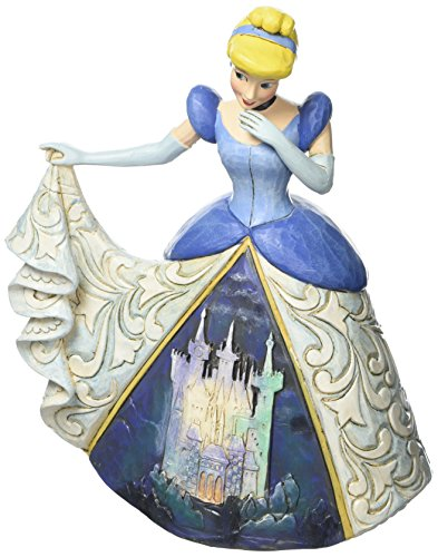 Jim Shore for Enesco Disney Traditions Cinderella with Castle Dress Figurine, 6