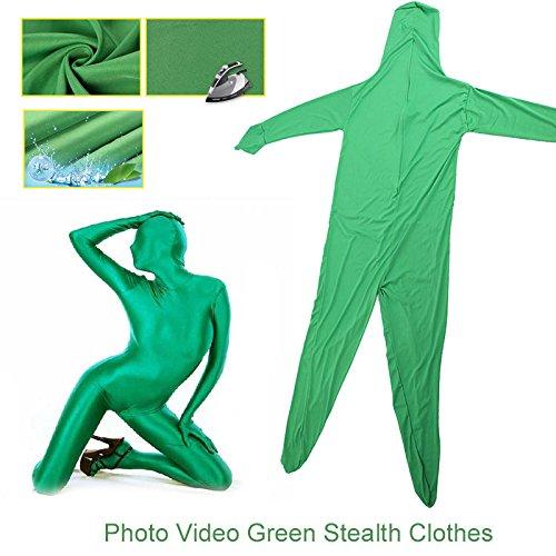 Traje de Pantalla Elástico Verde Ajustado Cuerpo Croma Clave ...