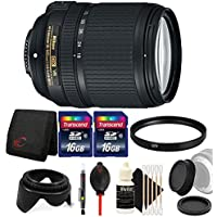 Nikon AF-S DX NIKKOR 18-140mm f/3.5-5.6G ED Vibration Reduction Zoom Lens with Auto Focus for Nikon D7100 D3200 with Accessories