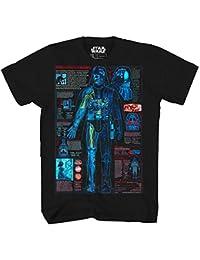 Darth Vader Schematic Blueprint Lightsaber Adult Mens Graphic Tee T-Shirt Apparel